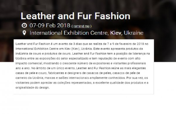 Leather & Fur Salon - International Leather & Fur Trade Show